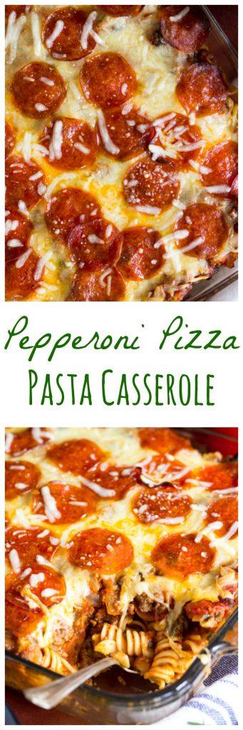 Pepperoni Pizza Pasta Casserole pin