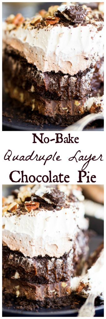 Quadruple Layer Chocolate Pudding Pie pin