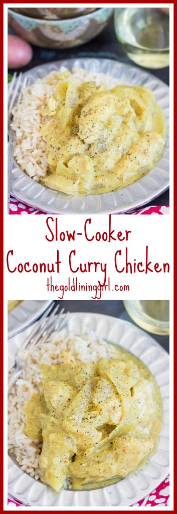 Slow-Cooker Coconut Curry Chicken pin