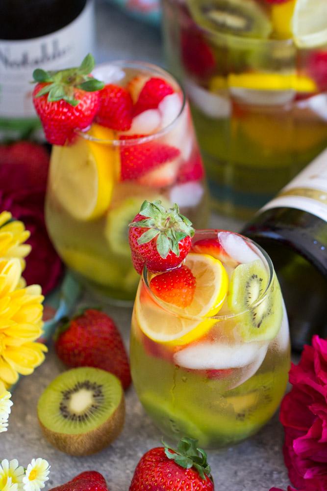 Strawberry Kiwi Sangria image thegoldlininggirl.com 9