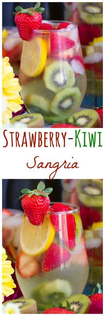 Strawberry Kiwi Sangria recipe pin