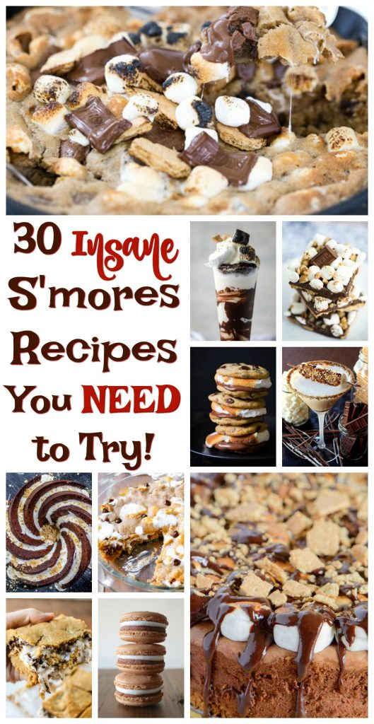 30 Best S'mores Recipes You Need To Try pin image thegoldlininggirl.com