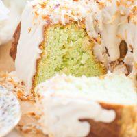 Coconut Pistachio Bundt Cake