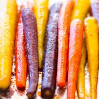Baked Carrots Recipe with Maple and Brown Sugar