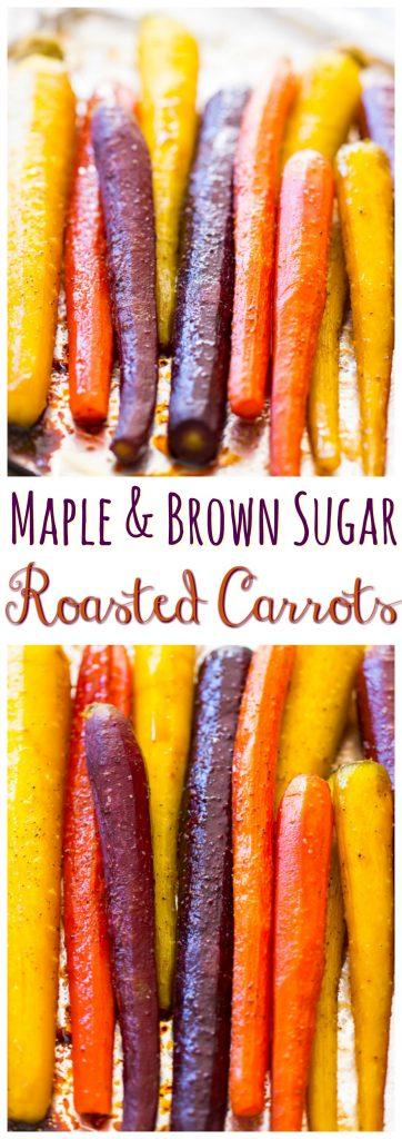Baked Carrots recipe pin 1