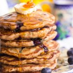 Blueberry Zucchini Bread Pancakes