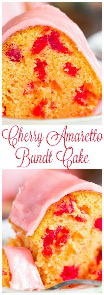 Cherry Amaretto Bundt Cake pin 2