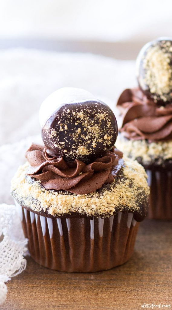 Chocolate-Smores-Cupcakes-with-Whipped-Ganache-Frosting-99