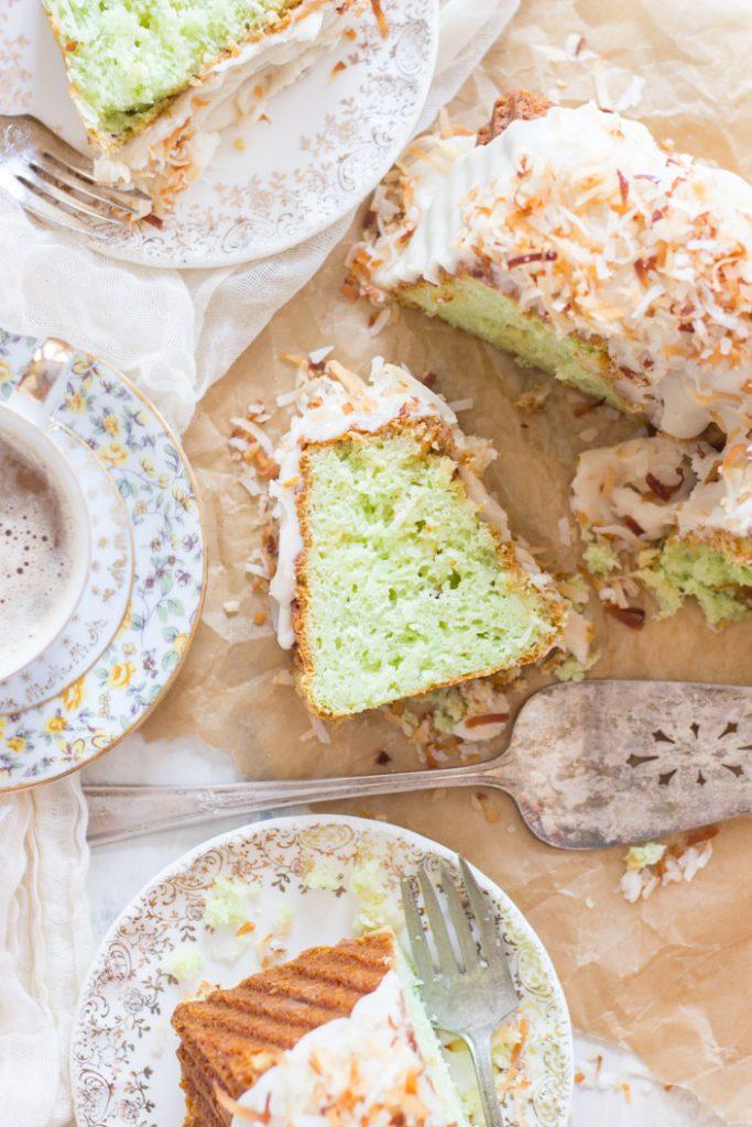 Coconut Pistachio Bundt Cake recipe image thegoldlininggirl.com 15