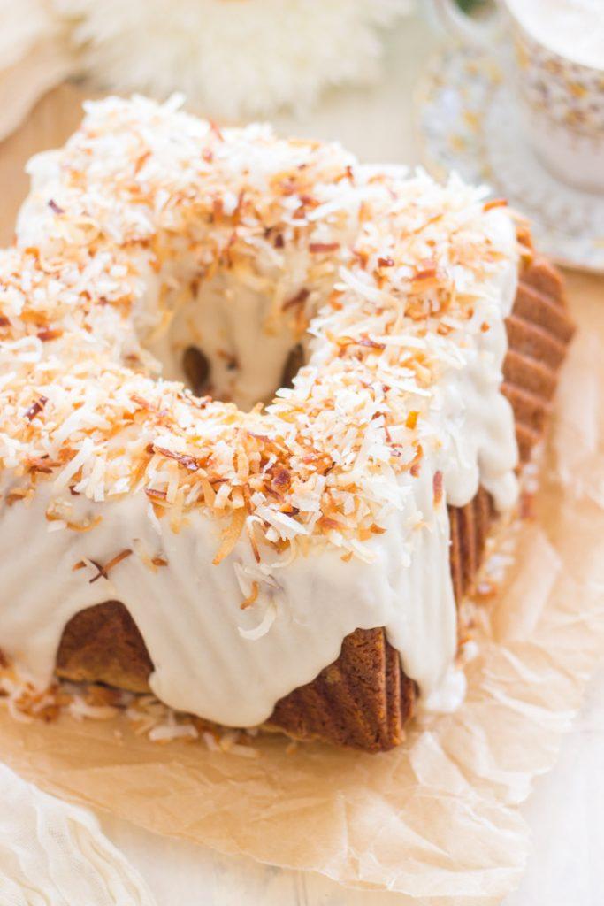 Coconut Pistachio Bundt Cake recipe image thegoldlininggirl.com 3