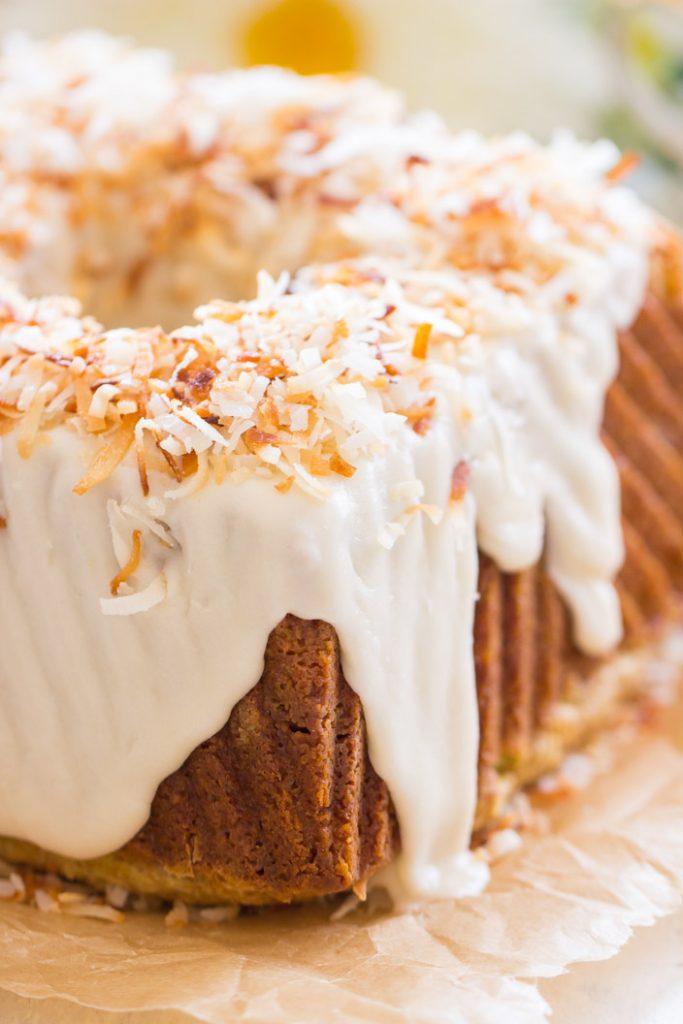Coconut Pistachio Bundt Cake recipe image thegoldlininggirl.com 4
