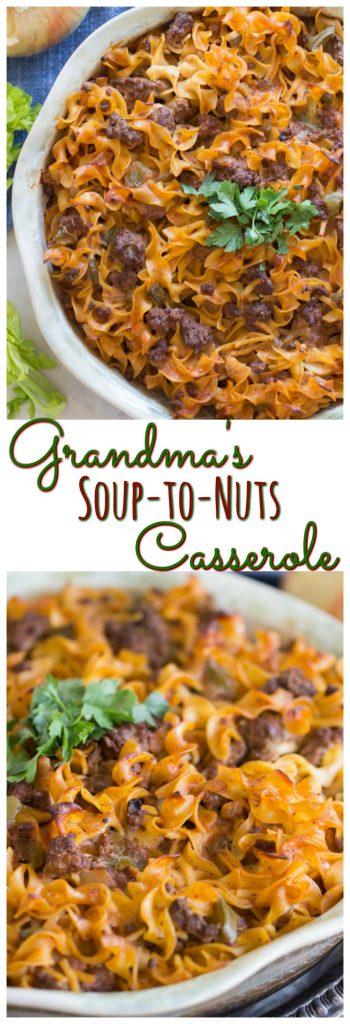 Grandma's Soup-to-Nuts Casserole pin