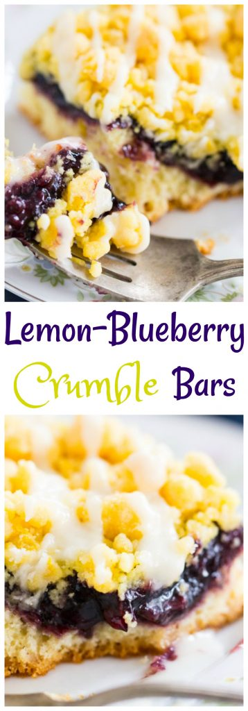 Lemon Blueberry Crumb Bars pin 2