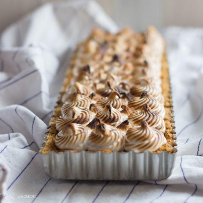 Nutella S'mores Tart