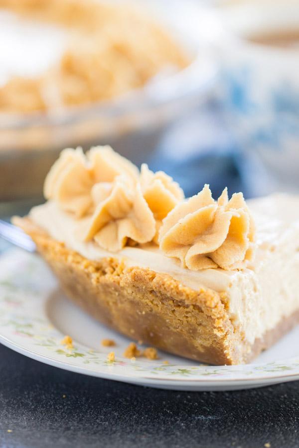 Nutter Butter No Bake Peanut Butter Pie recipe image thegoldlininggirl.com 12