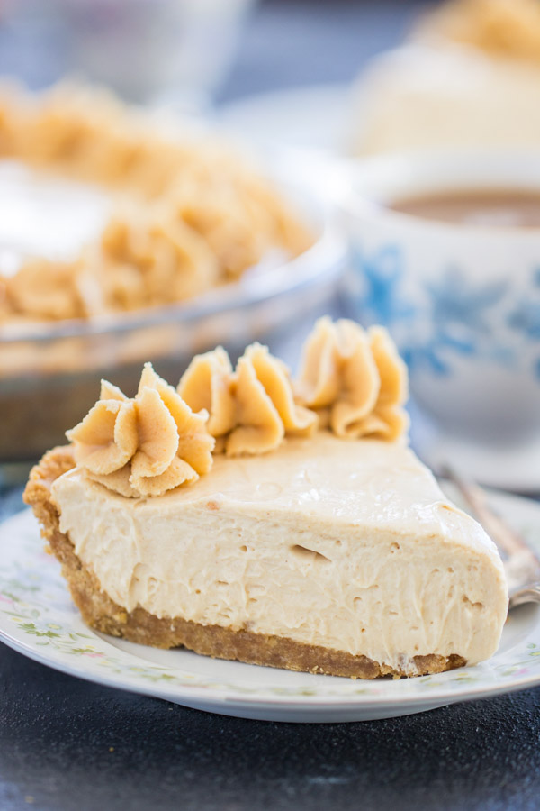 Nutter Butter No Bake Peanut Butter Pie recipe image thegoldlininggirl.com 8