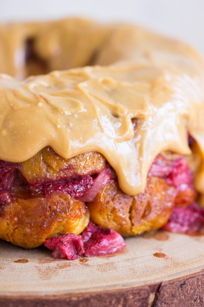 Peanut Butter & Jelly Monkey Bread recipe image thegoldlininggirl.com 13