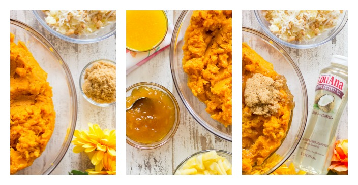 Tropical Sweet Potato Casserole collage