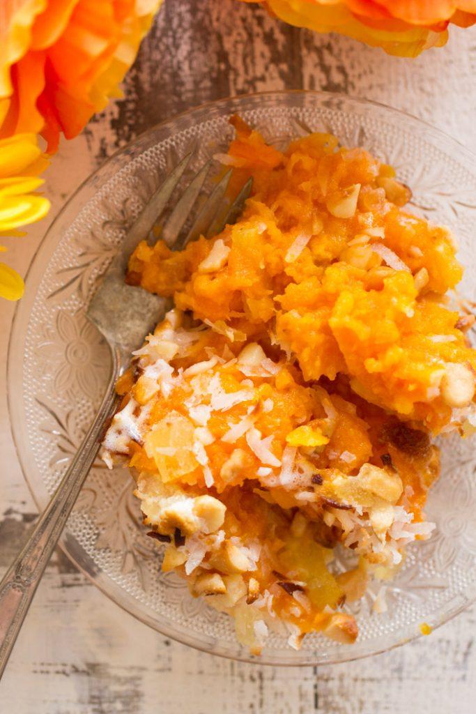 Tropical Sweet Potato Casserole recipe image thegoldlininggirl.com 17