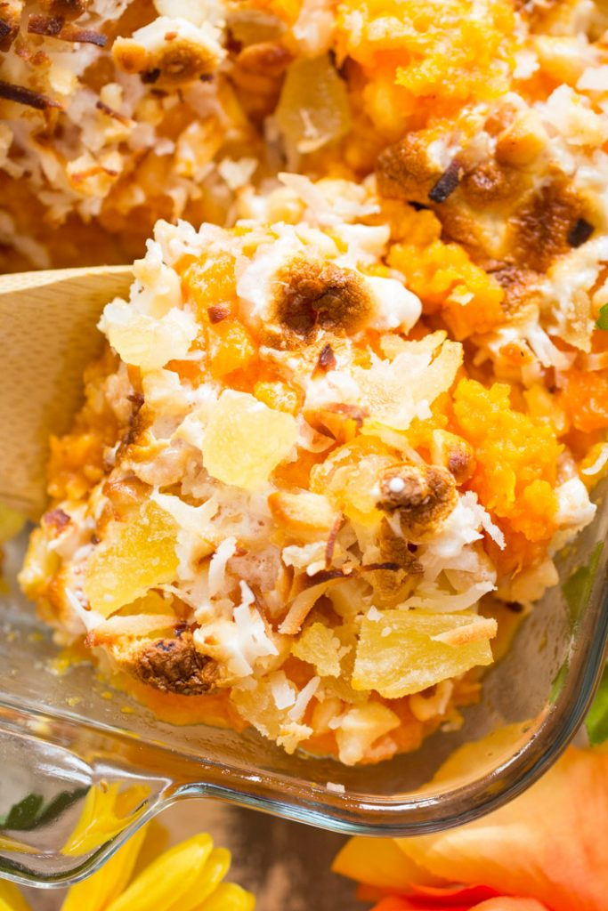 Tropical Sweet Potato Casserole recipe image thegoldlininggirl.com 20