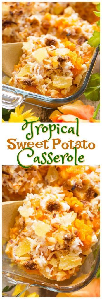 Tropical Sweet Potato Casserole recipe pin 1