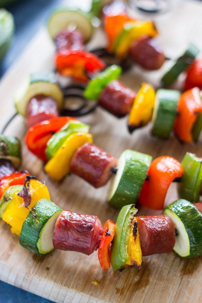 10-Minute Sausage Kabobs recipe image thegoldlininggirl.com 6