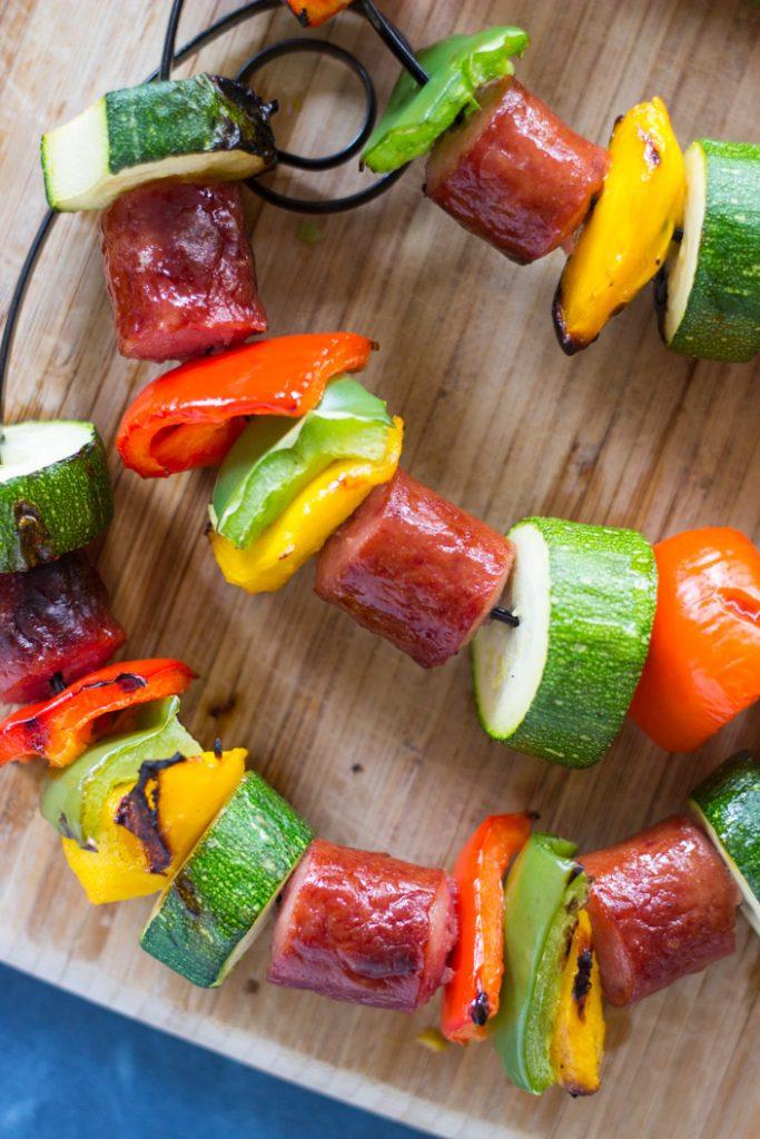 10-Minute Sausage Kabobs recipe image thegoldlininggirl.com 7