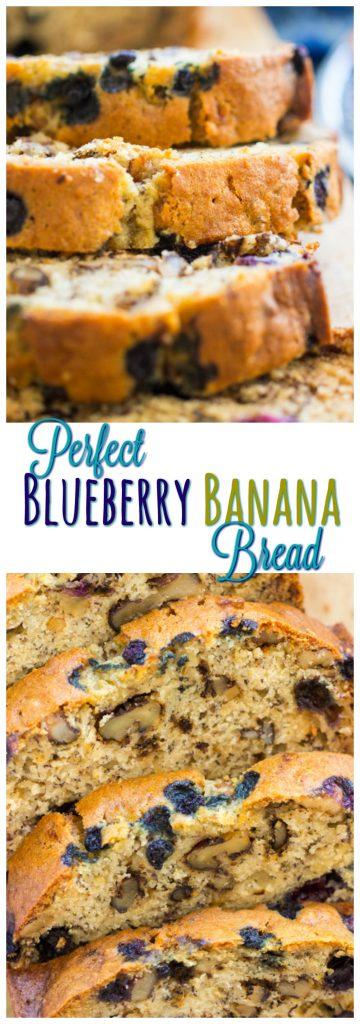 Blueberry Banana Bread Recipe pin image 2