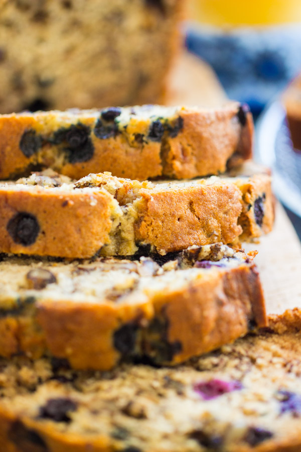 Blueberry Banana Bread recipe image thegoldlininggirl.com 9