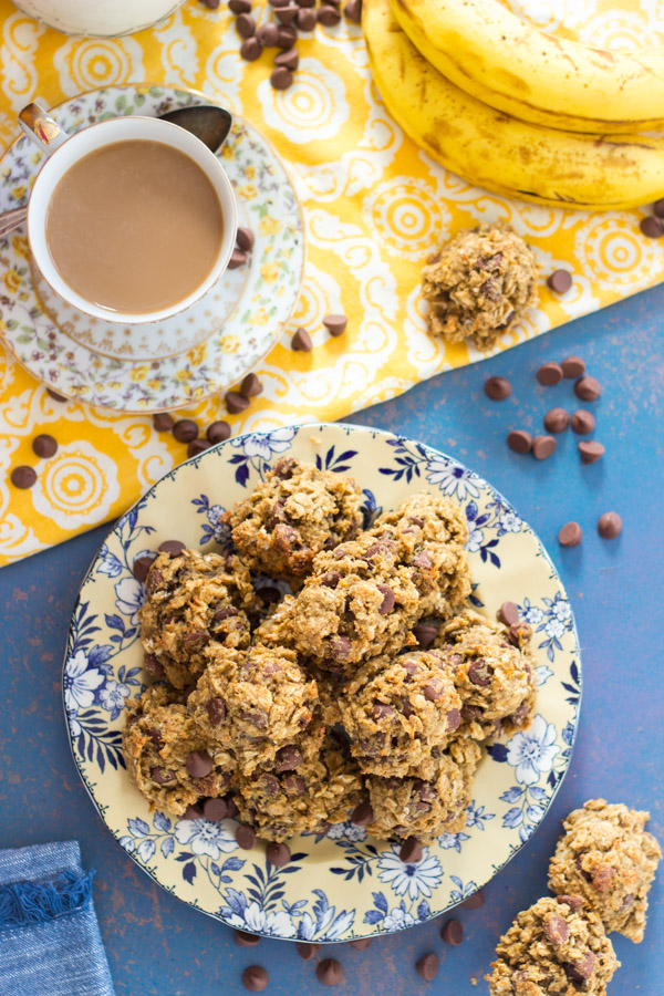 Chocolate Peanut Butter Banana Breakfast Cookies recipe image thegoldlininggirl.com 9