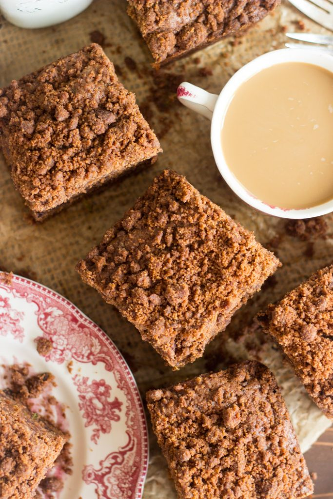 Chocolate Zucchini Bread Coffee Cake recipe image thegoldlininggirl.com 16