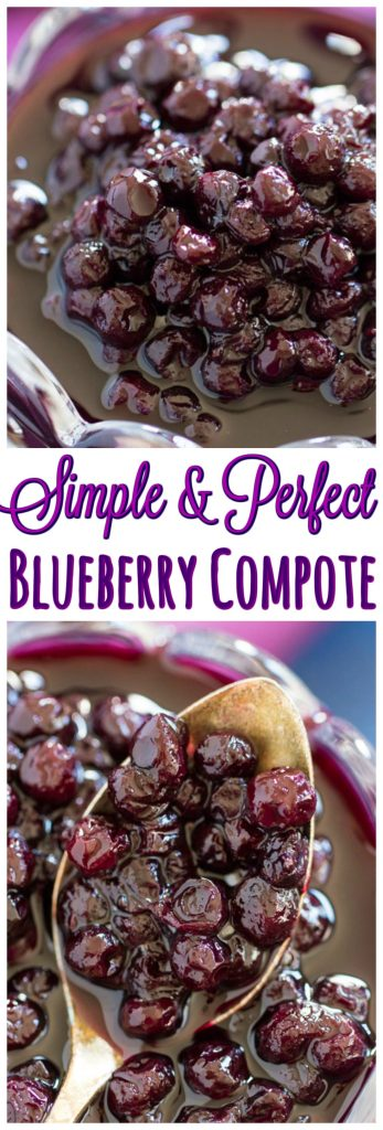 Easy Blueberry Compote recipe thegoldlininggirl.com pin 1