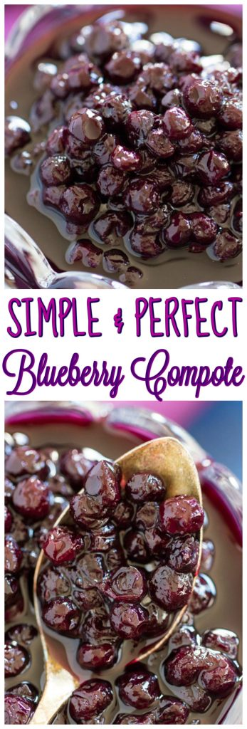 Easy Blueberry Compote recipe thegoldlininggirl.com pin 2