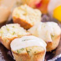 Lemon Zucchini Muffins with Lemon Glaze