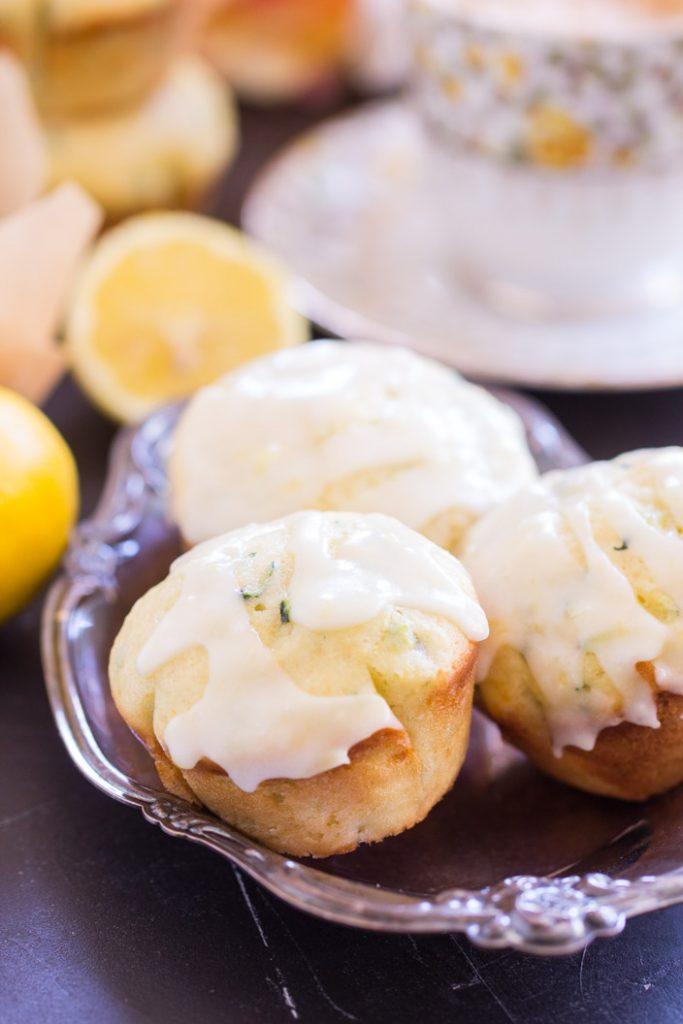 Lemon Zucchini Muffins with Lemon Glaze recipe image thegoldlininggirl.com 8
