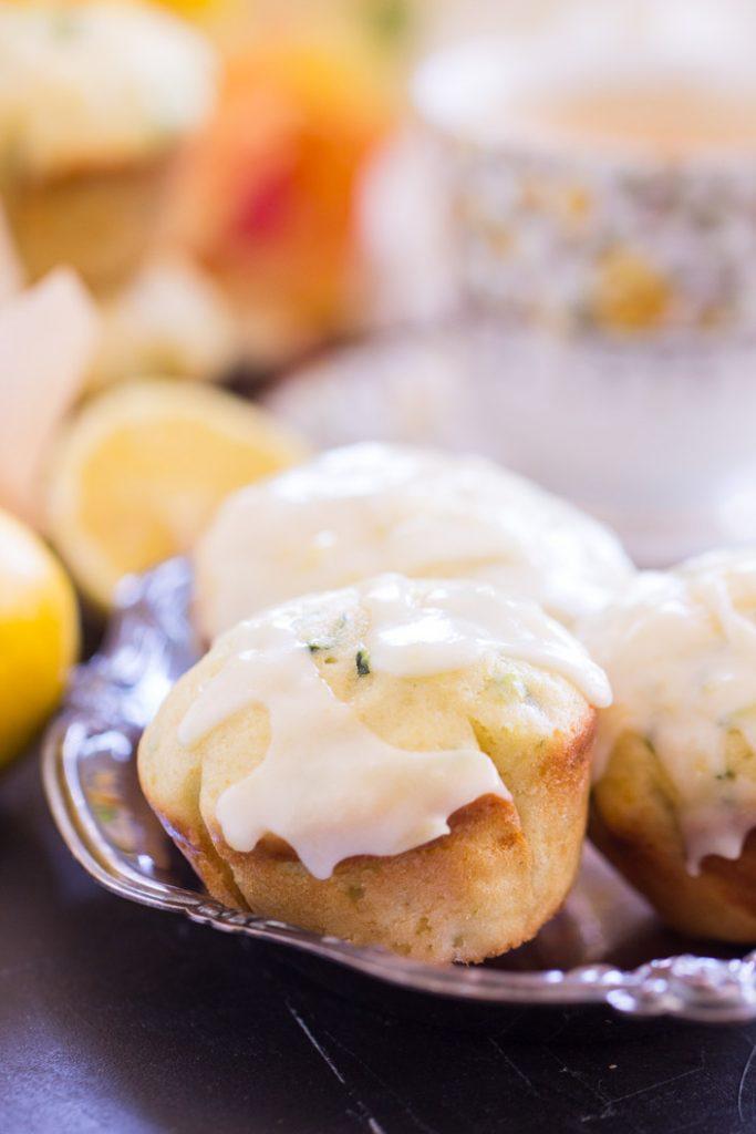 Lemon Zucchini Muffins with Lemon Glaze recipe image thegoldlininggirl.com 9