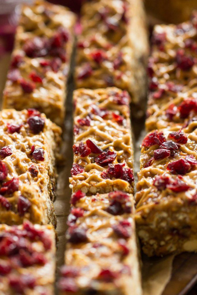 Peanut Butter & Jelly Pretzel Bars recipe image thegoldlininggirl.com 10