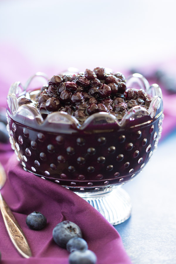 Simple & Easy Blueberry Compote Recipe image thegoldlininggirl.com 8