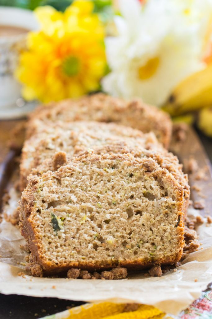 Zucchini banana bread with streusel topping the gold lining girl banana zucchini bread recipe image thegoldlininggirl 11 forumfinder Image collections