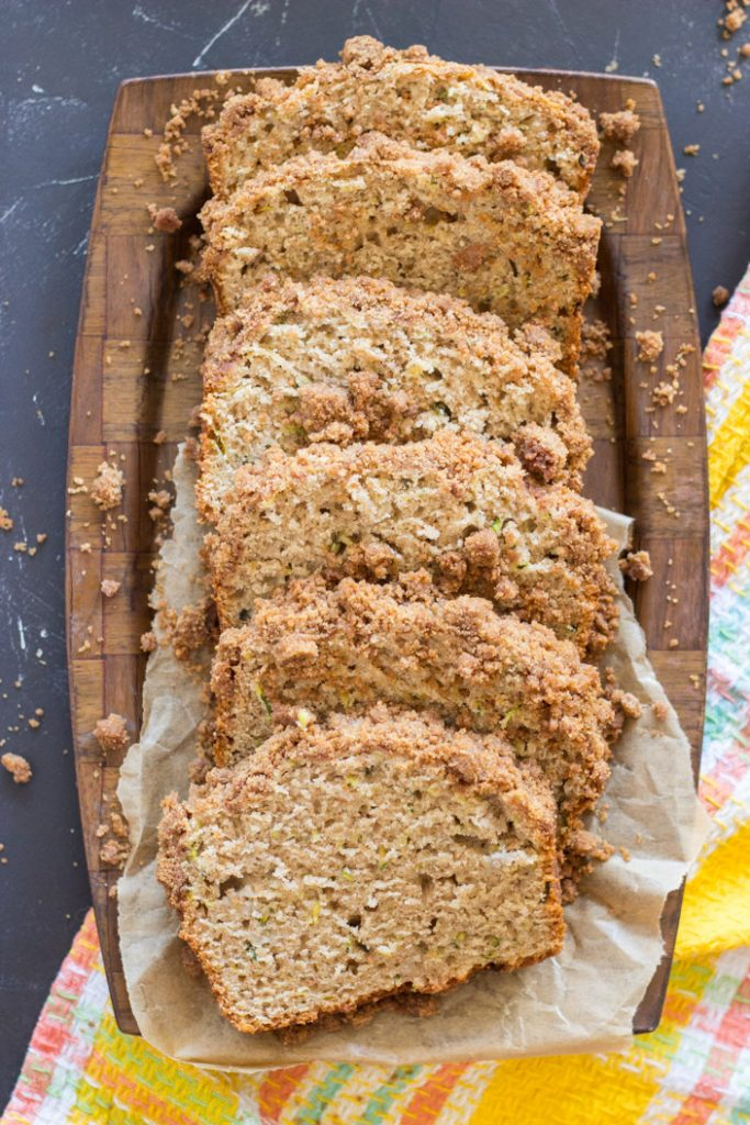 Zucchini Banana Bread With Streusel Topping The Gold Lining Girl