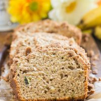 Zucchini Banana Bread With Streusel Topping