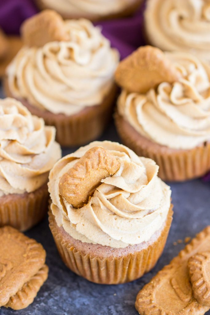 Cookie Butter Cupcakes recipe image thegoldlininggirl.com 12