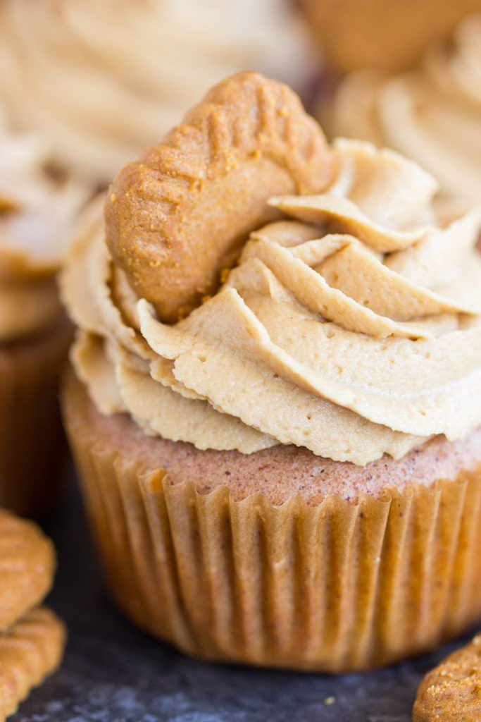 Cookie Butter Cupcakes recipe image thegoldlininggirl.com 15