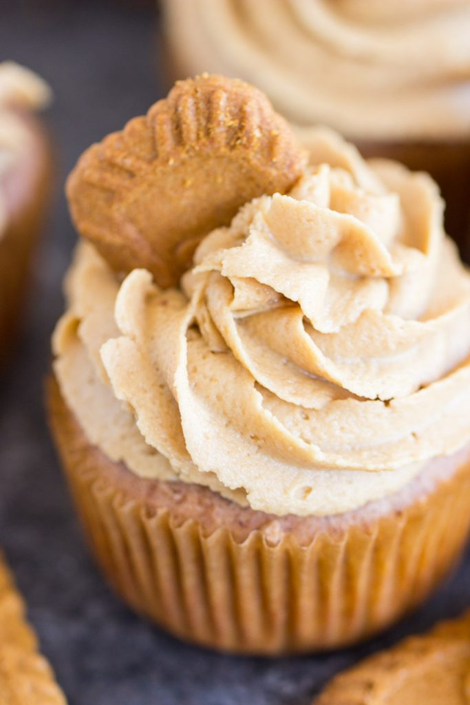 Cookie Butter Cupcakes recipe image thegoldlininggirl.com 7