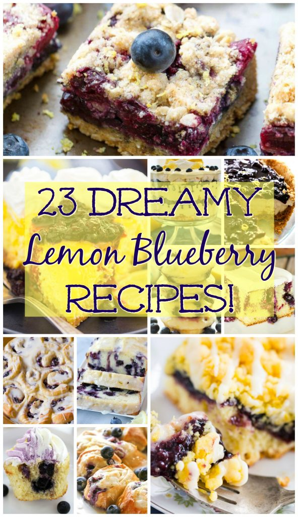 Lemon Blueberry Recipes round-up thegoldlininggirl.com pin