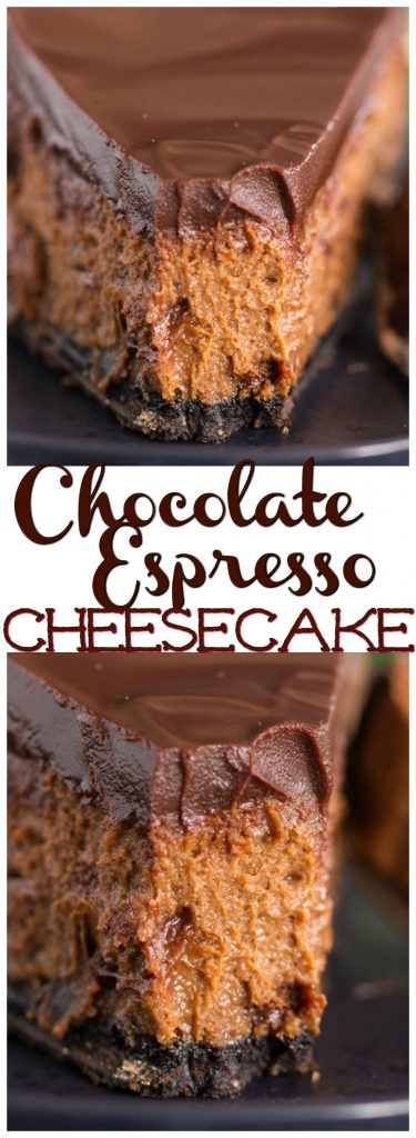 Mocha Cheesecake recipe image thegoldlininggirl.com pin 2