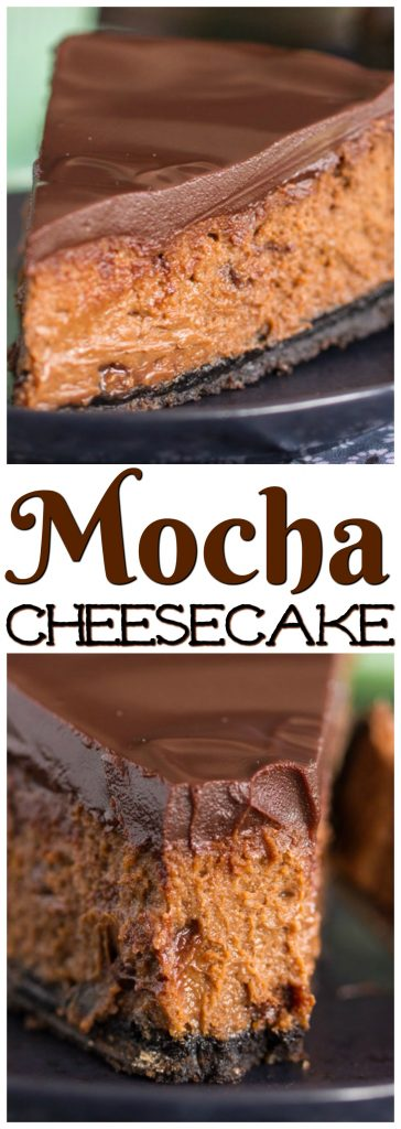 Mocha Cheesecake recipe image thegoldlininggirl.com pin 3