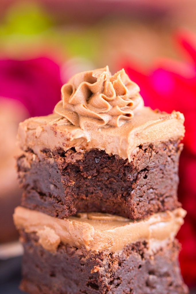 Nutella Brownies with Nutella Buttercream recipe image thegoldlininggirl.com 16