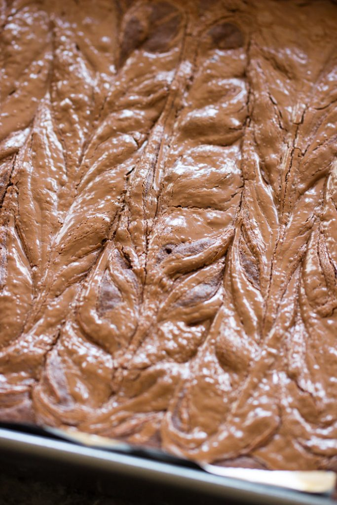 Nutella Brownies with Nutella Buttercream recipe image thegoldlininggirl.com 6
