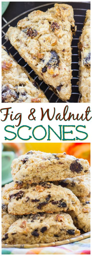 Walnut & Fig Scones thegoldlininggirl.com recipe image pin